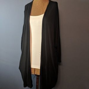 Lane Bryant black drape cardigan